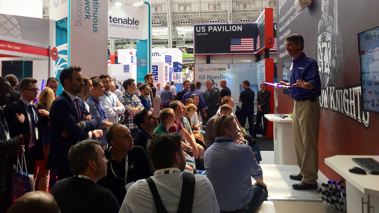 Trade show presenter London Infosec 2016 5